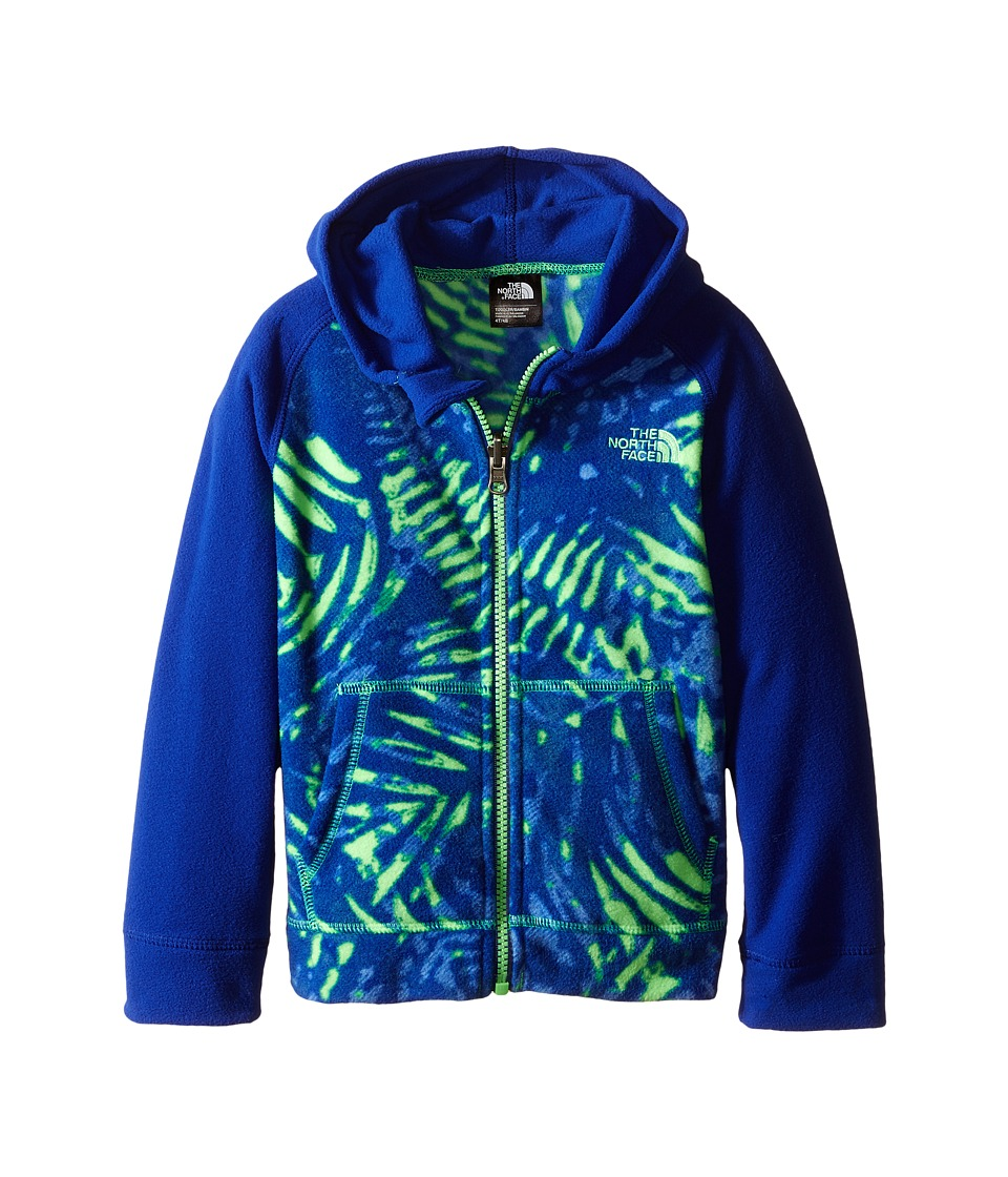 The North Face Kids - Glacier Full Zip Hoodie (Toddler) (Electric Mint Green Palm Print) Boy's Sweatshirt