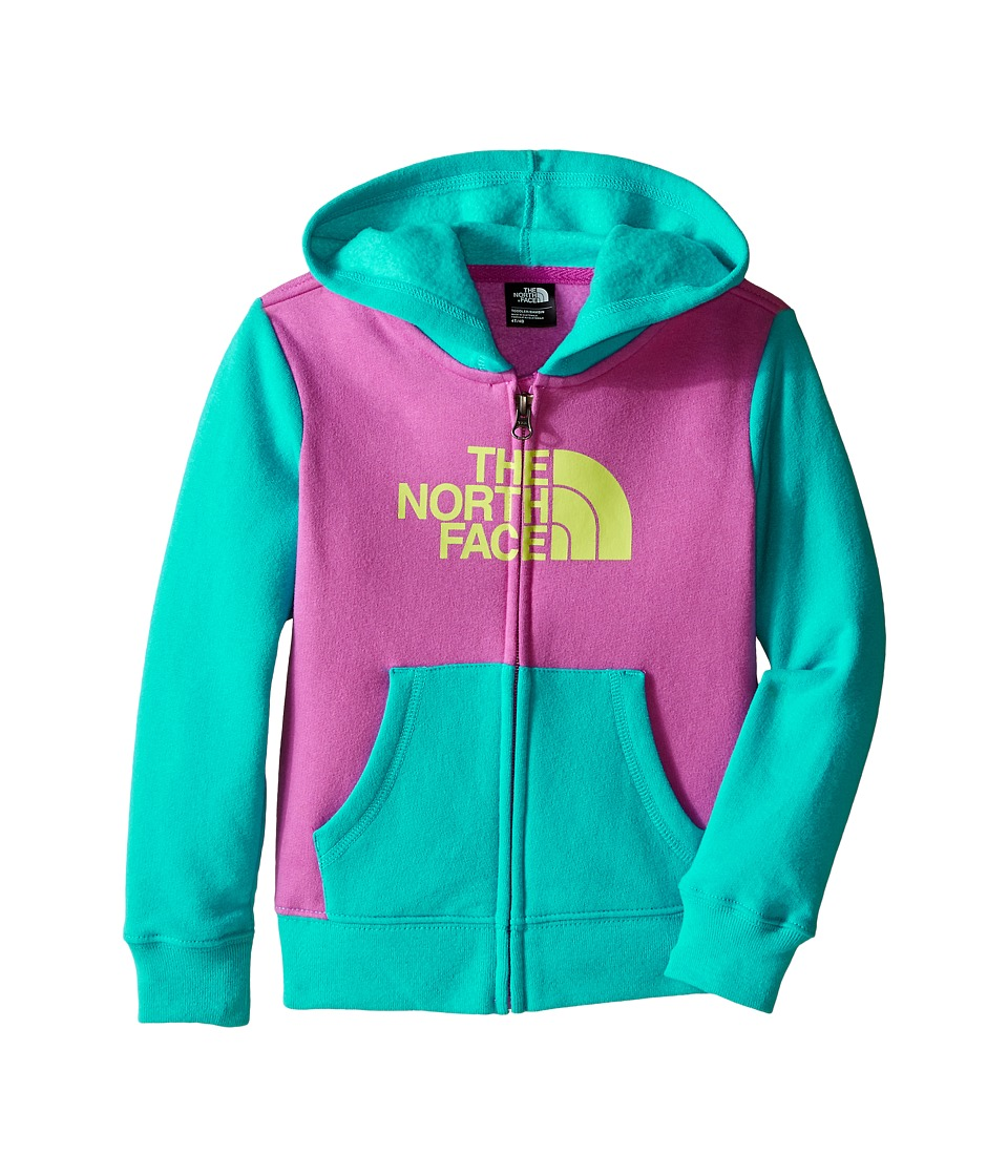 The North Face Kids - Logowear Full Zip Hoodie (Toddler) (Sweet Violet) Boy's Sweatshirt
