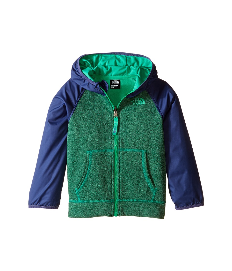 The North Face Kids - Canyonlands Track Hoodie (Toddler) (Blarney Green Heather) Boy's Sweatshirt