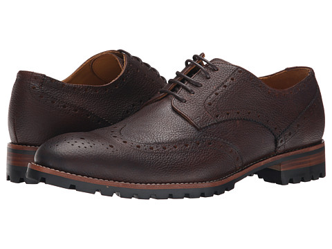 Ron White - Wylie (Rust Oiled Tumbled Calf) Men's Lace Up Wing Tip Shoes