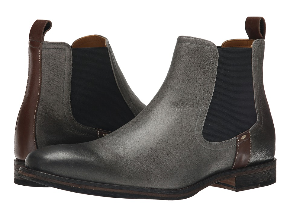 Ron White - Anton (Slate/Pretzel Antiqued Pebble Grain Calf) Men's Boots