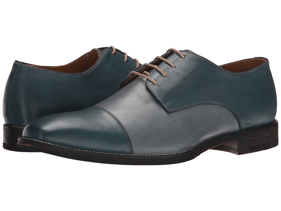 Ron White - Adam (Navy/Slate Burnished Calf) Men's Shoes