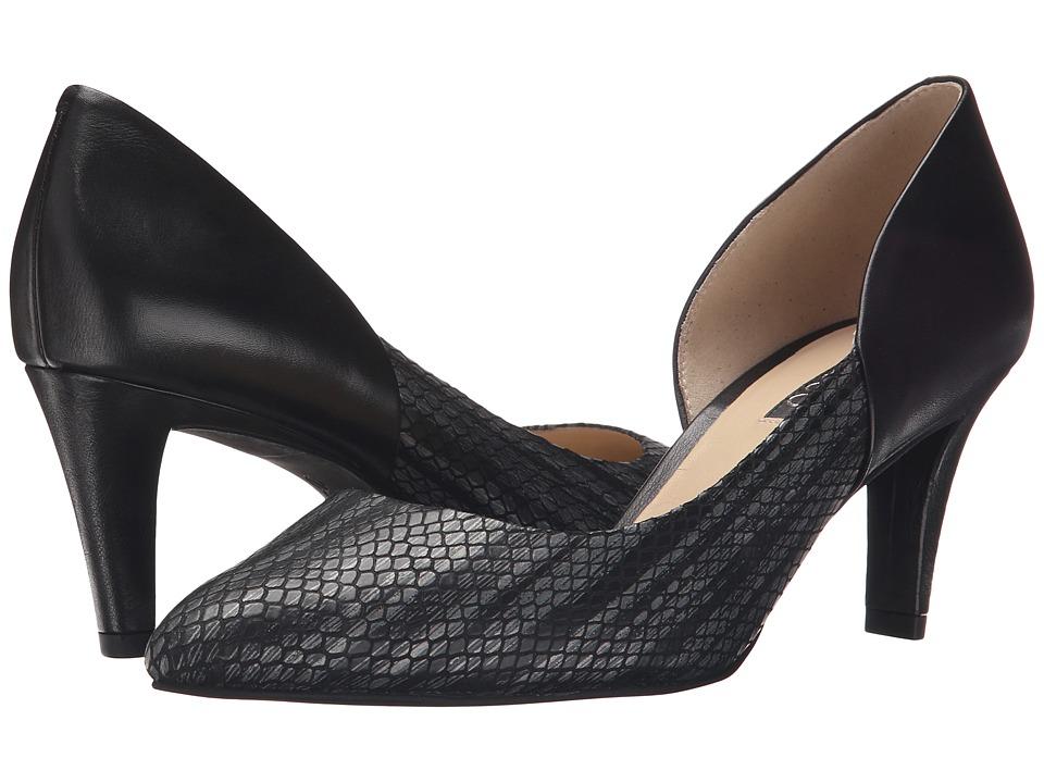 ECCO - Belleair Pump (Black/Gold Antic/Black) High Heels