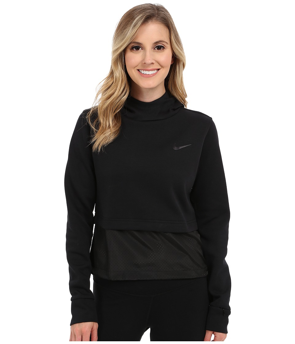 Nike - Advance 15 Fleece Hoodie (Black/Black/Black/Black) Women's Clothing