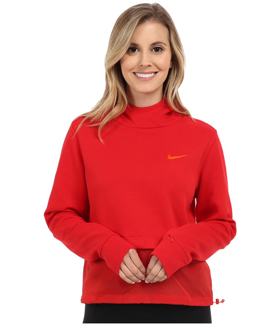 Nike - Advance 15 Fleece Hoodie (University Red/University Red/University Red/Safety Orange) Women's Clothing