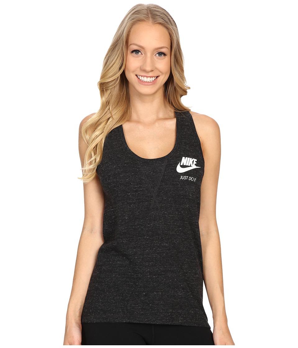 Nike - Gym Vintage Tank Top (Black/Sail) Women's Sleeveless
