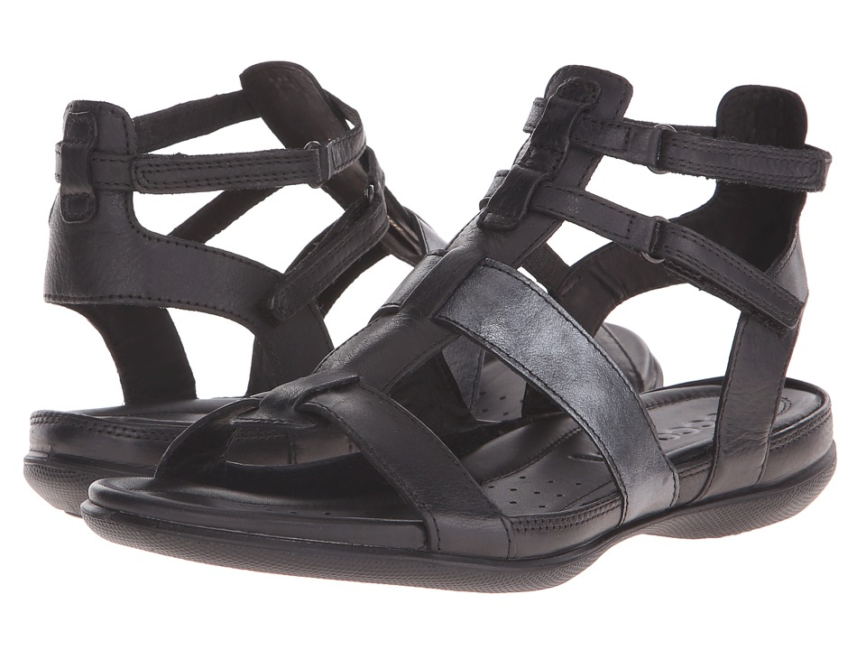 ECCO Flash Ankle Sandal (Black/Black) Women