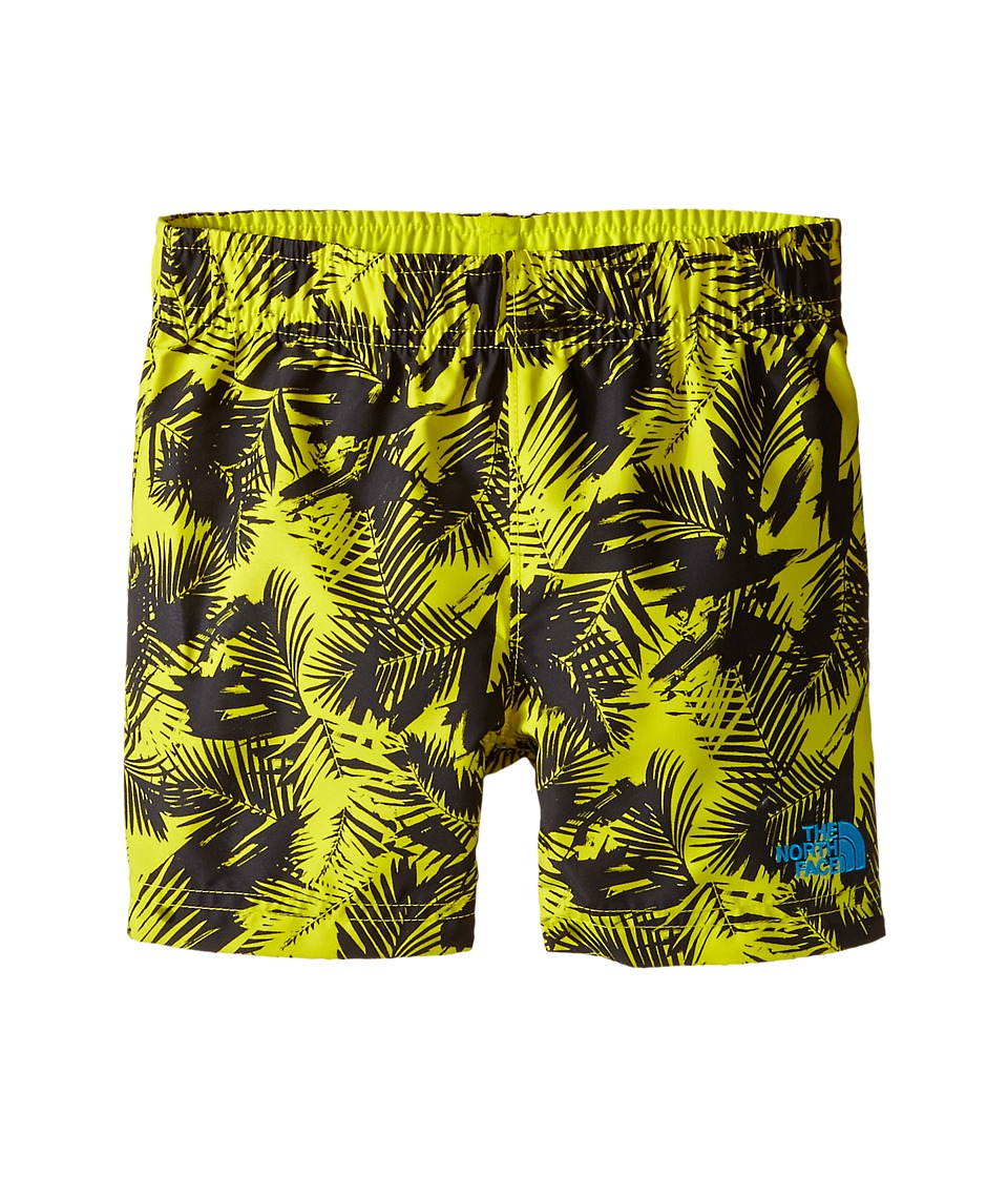 The North Face Kids - Hike/Water Shorts (Toddler) (Sulphur Spring Green Abstract Palm Print) Boy's Shorts