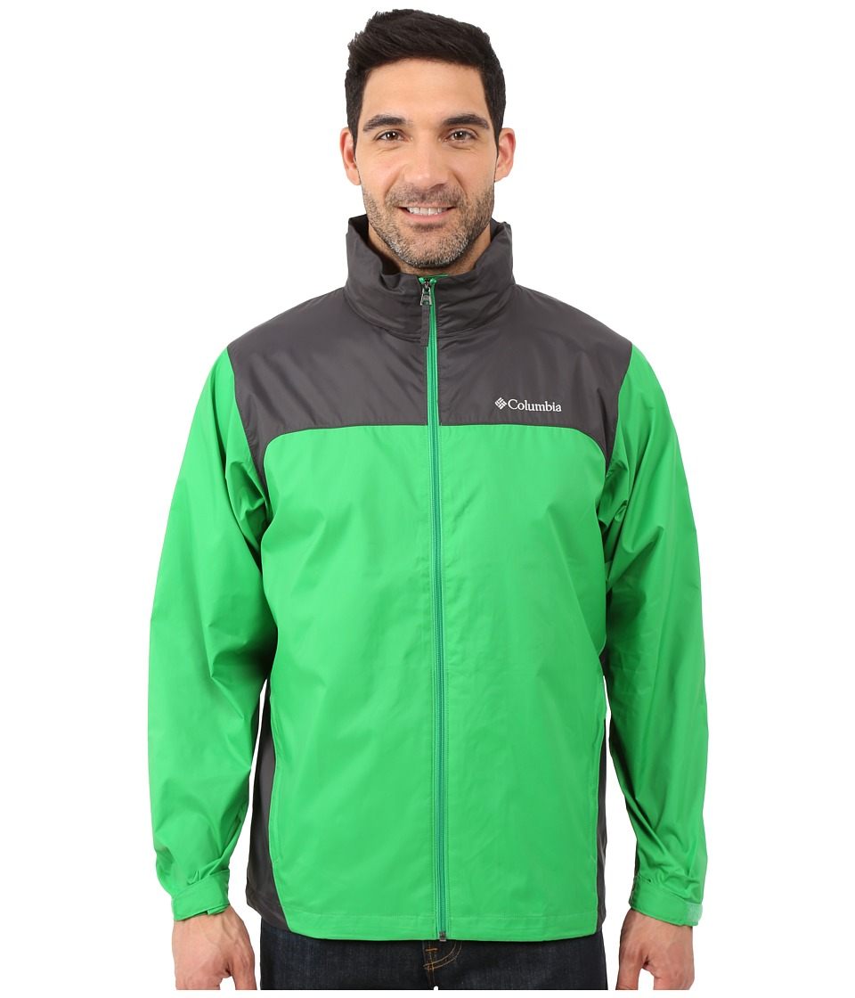 Columbia Glennaker Laketm Rain Jacket (Fuse Green/Shark) Men