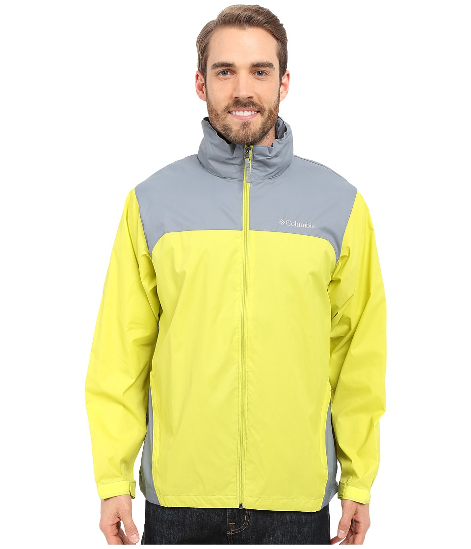 Columbia Glennaker Lake Rain Jacket (Chartreuse/Grey Ash) Men