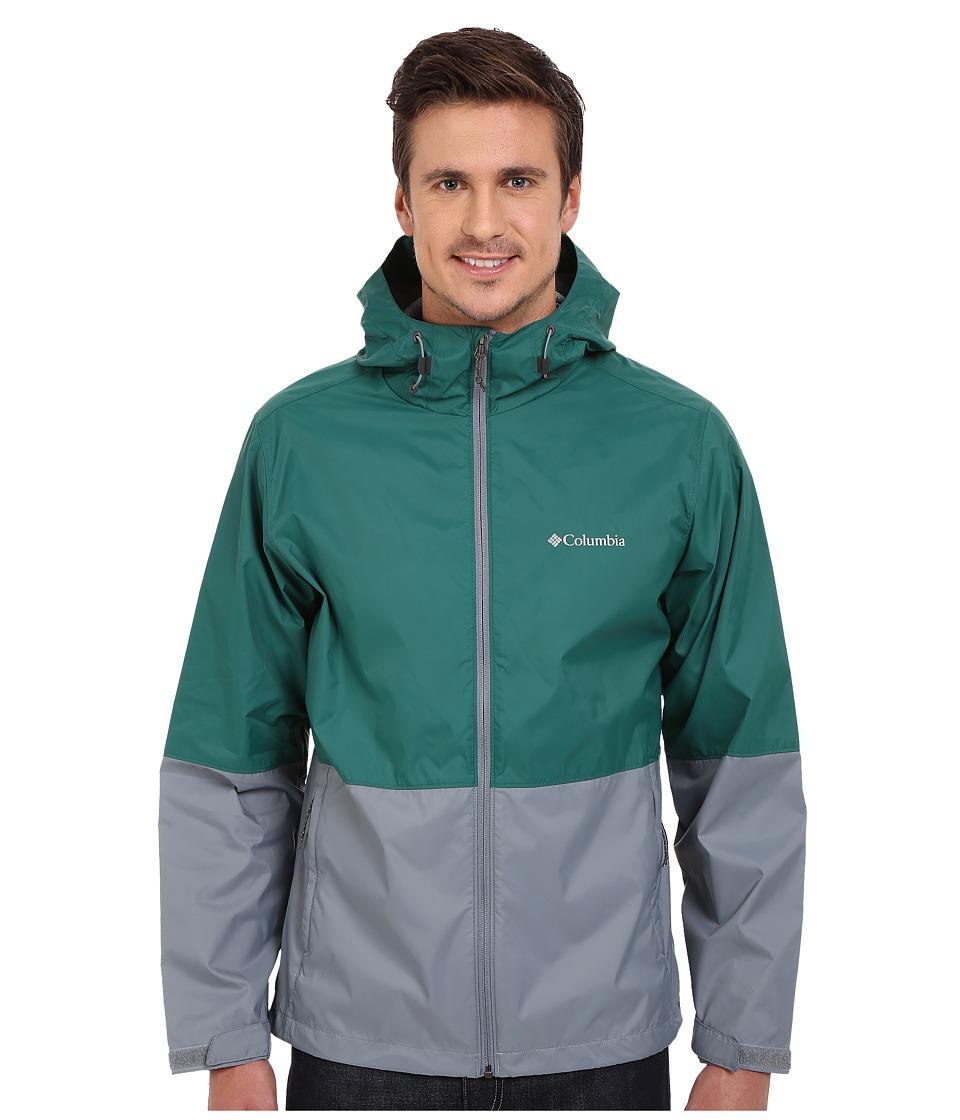 Columbia - Roan Mountain Jacket (Pine Green/Grey Ash/Dark Turquoise) Men's Coat