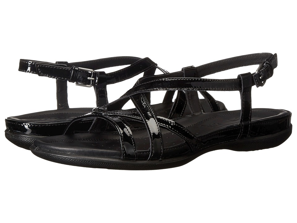 ECCO - Flash Cross Strap Sandal (Black) Women's Sandals