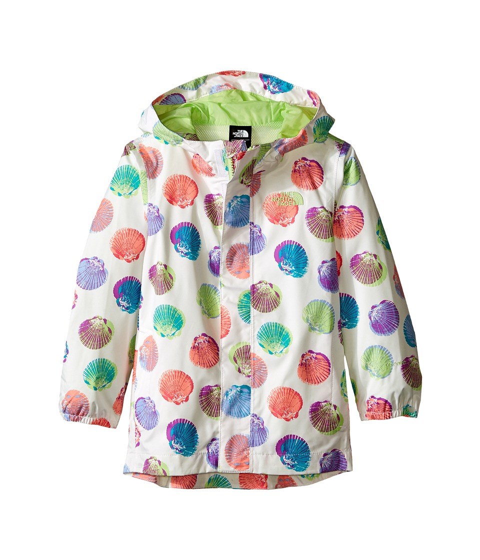 The North Face Kids Printed Tailout Rain Jacket (Toddler) (TNF White Seashell Print) Girl