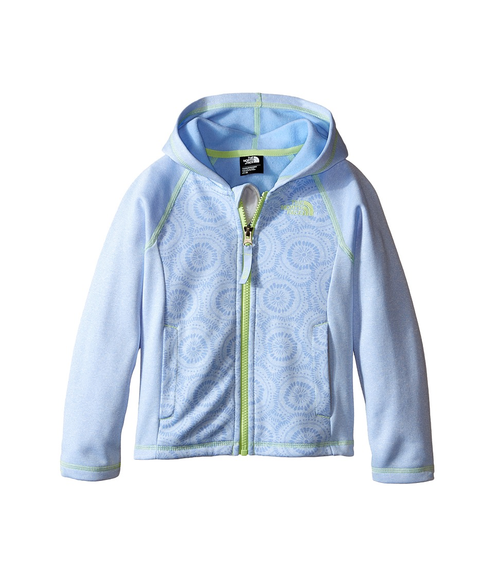 The North Face Kids - Seashore Fleece Hoodie (Toddler) (Collar Blue Sand Dollar Print) Girl's Sweatshirt