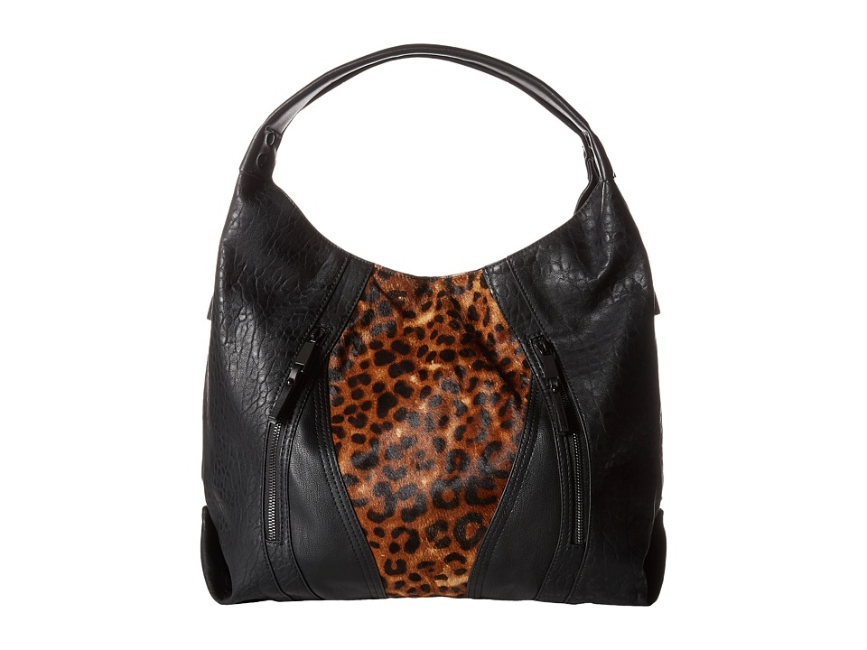 French Connection - Ollie - Tote (Black/Natural Leo) Tote Handbags