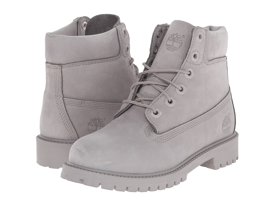 Timberland Kids - 6 in Premium Waterproof Boot (Big Kid) (Grey Monochromatic) Kids Shoes