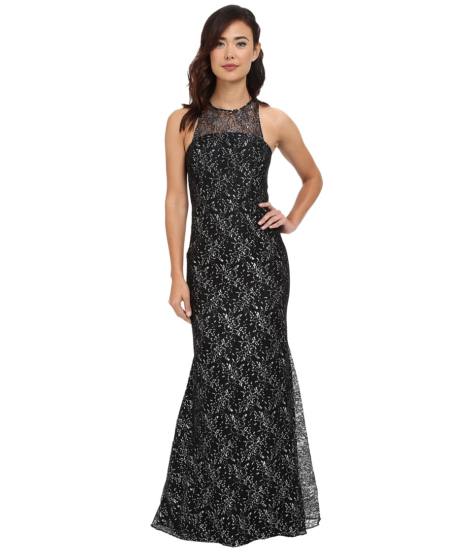 Shoshanna Mayra Gown Silver-Jet Dress