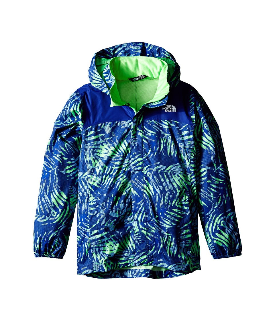The North Face Kids - Novelty Resolve Jacket (Little Kids/Big Kids) (Electric Mint Green Palm Print) Boy's Coat