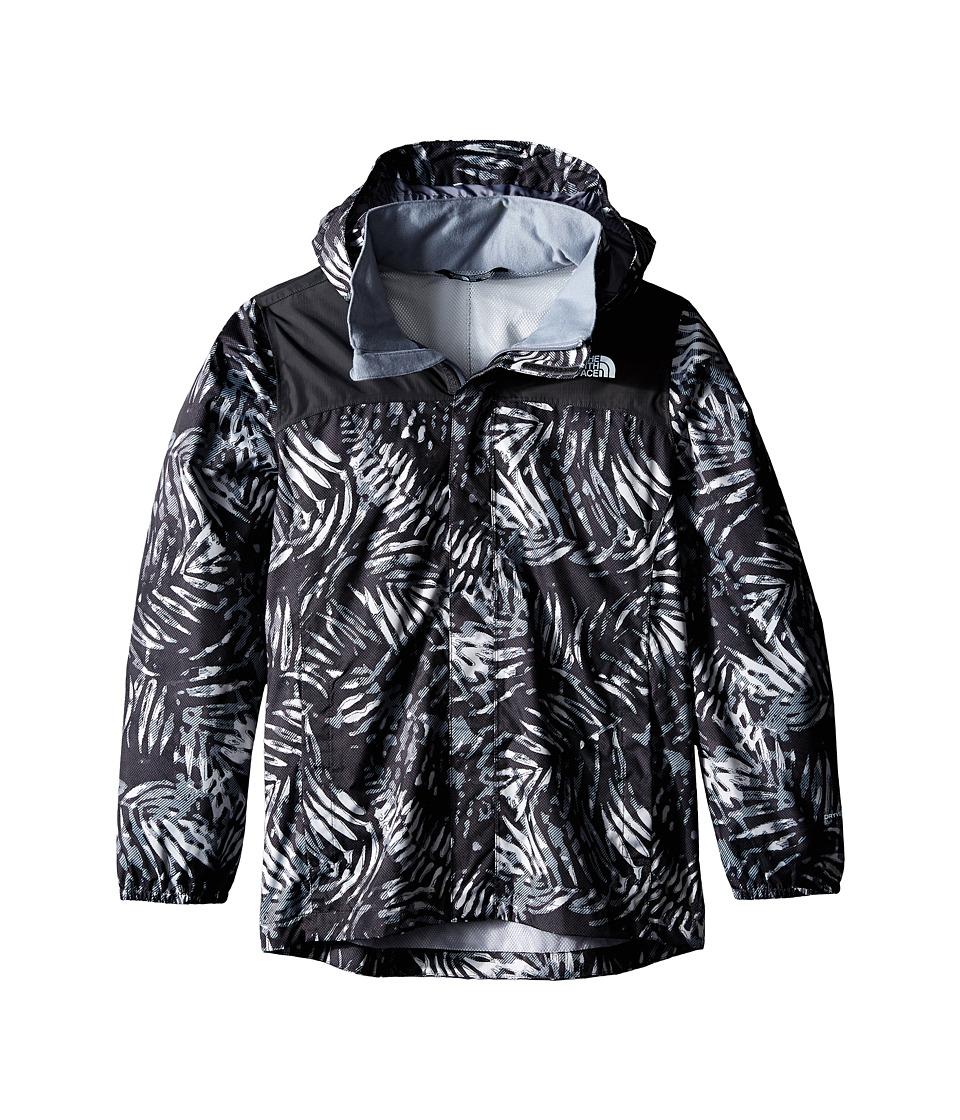 The North Face Kids - Novelty Resolve Jacket (Little Kids/Big Kids) (TNF Black Palm Print) Boy's Coat