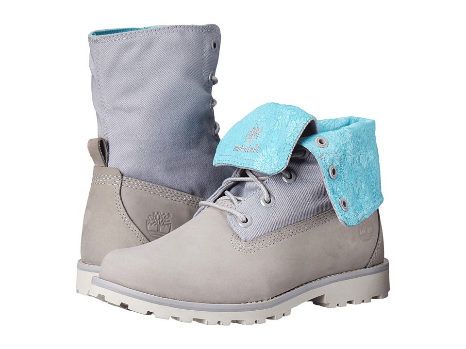 Timberland Kids - Authentics Fabric Fold Down (Big Kid) (Sleet) Kids Shoes