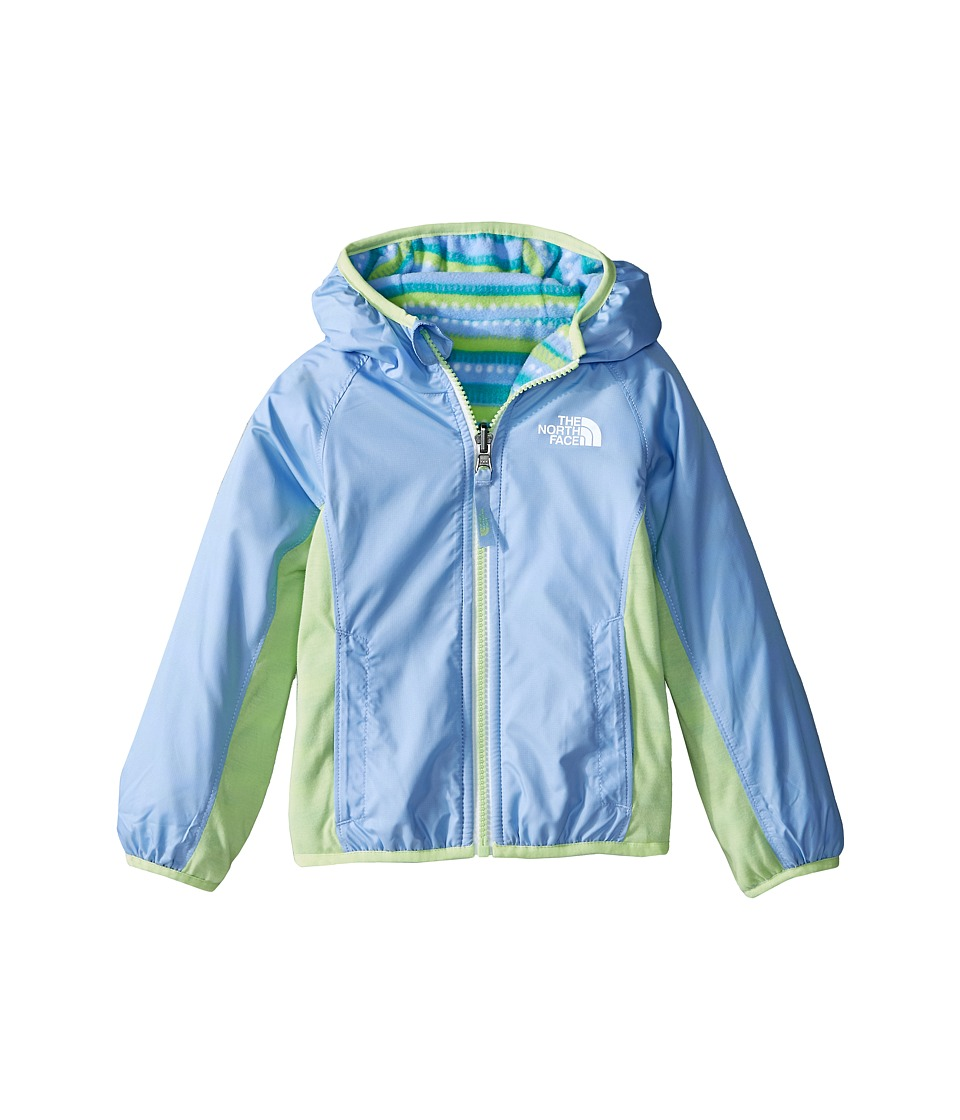 The North Face Kids - Reversible Grizzly Peak Lined Wind Jacket (Toddler) (Collar Blue) Girl's Jacket