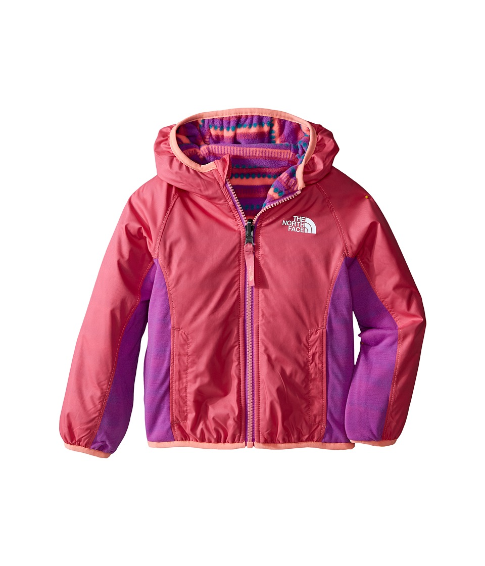 The North Face Kids - Reversible Grizzly Peak Lined Wind Jacket (Toddler) (Cha Cha Pink) Girl's Jacket