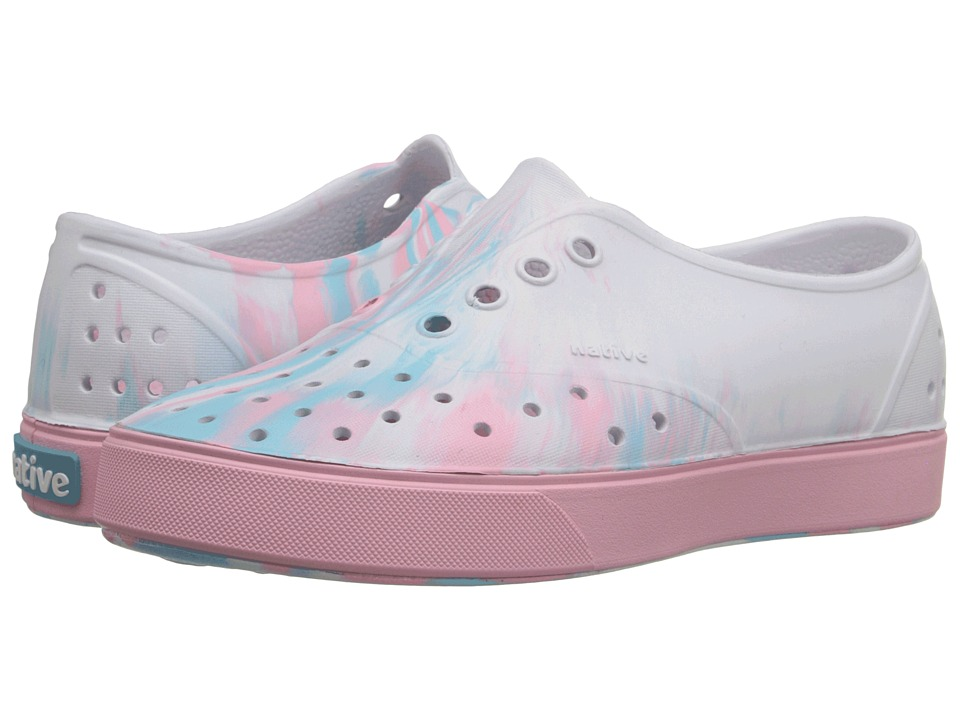 Native Kids Shoes - Miller (Little Kid) (Shell White/Princess Pink Marbled) Girl's Shoes