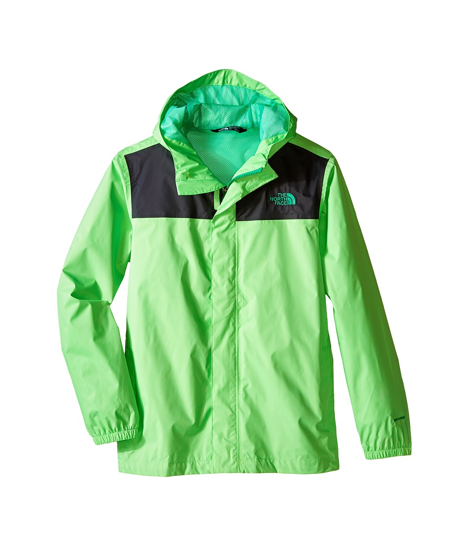 The North Face Kids - Zipline Rain Jacket (Little Kids/Big Kids) (Electric Mint Green) Boy's Coat