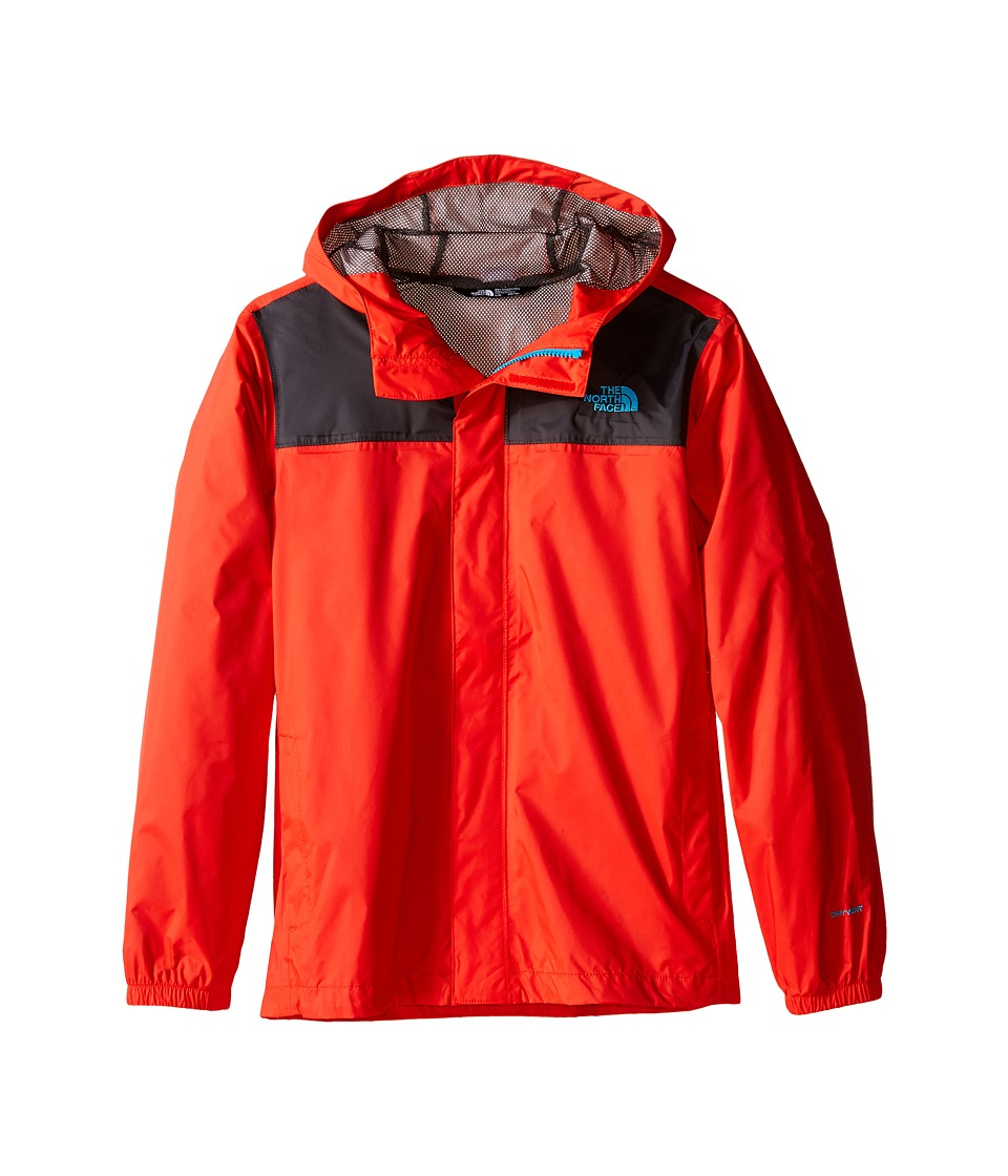 The North Face Kids - Zipline Rain Jacket (Little Kids/Big Kids) (Fiery Red/Asphalt Grey) Boy's Coat