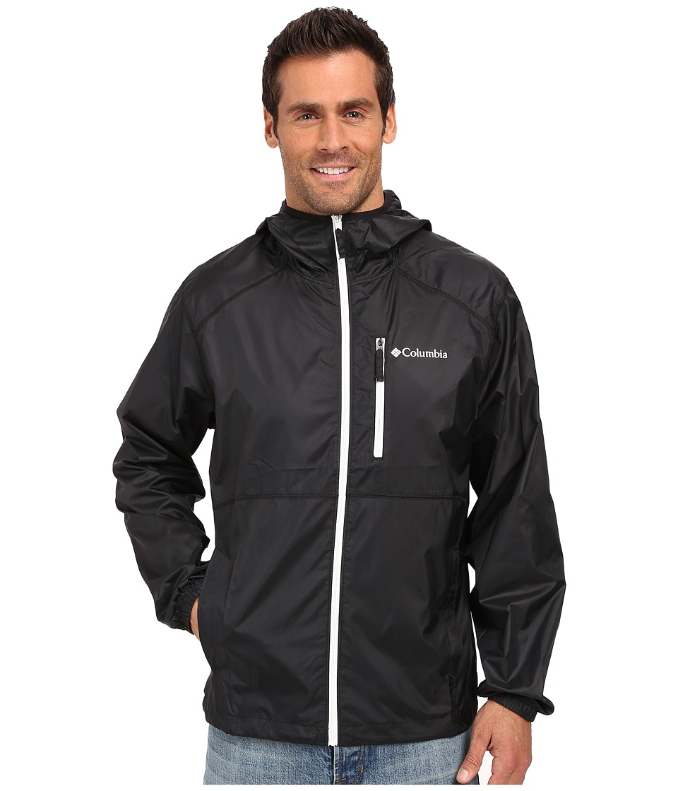 Columbia - Flash Forward Windbreaker (Black/White) Men's Coat