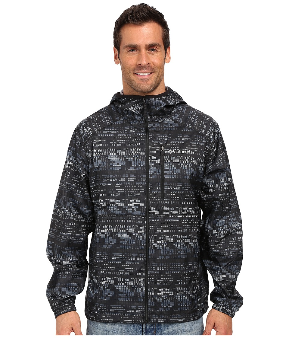 Columbia - Flash Forward Windbreaker Print (Black Matrix Print) Men's Coat