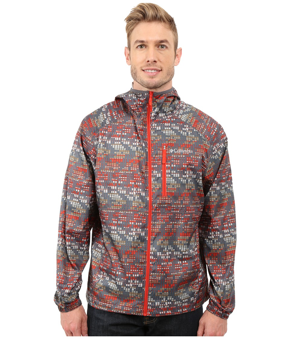 Columbia - Flash Forward Windbreaker Print (Super Sonic Matrix Print) Men's Coat