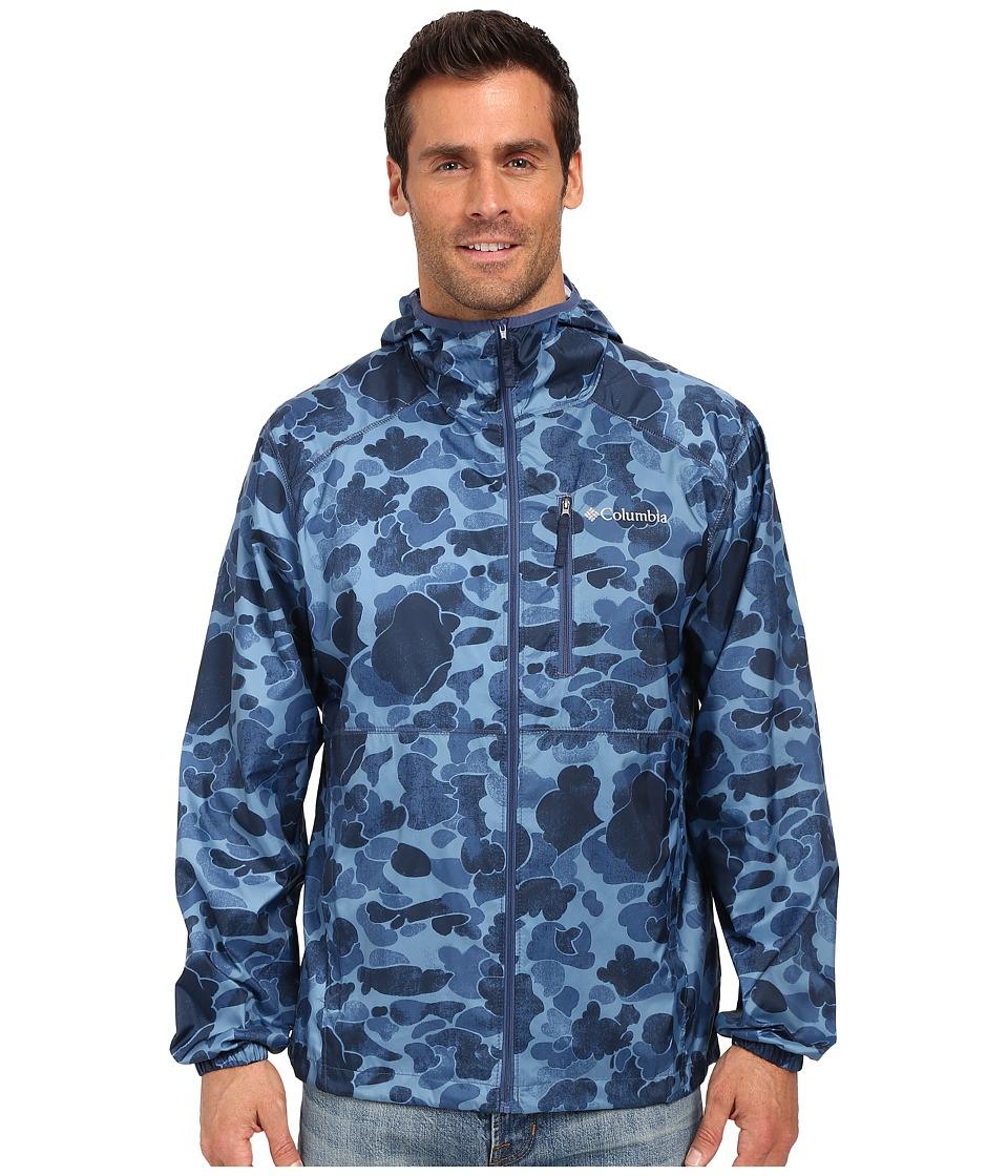 Columbia - Flash Forward Windbreaker Print (Night Tide Camo) Men's Coat