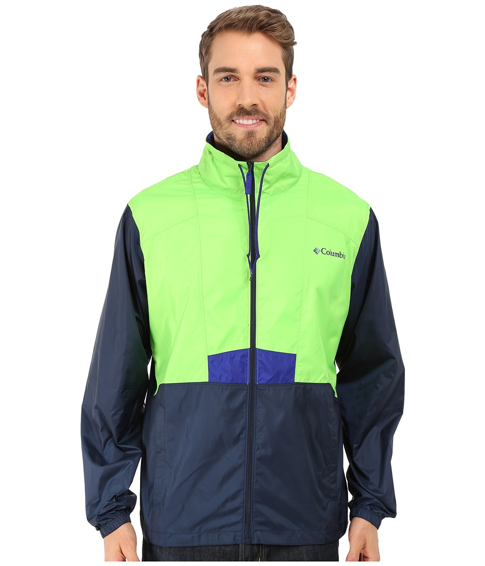 Columbia - Flashback Collared Jacket (Green Mamba/Collegiate Navy) Men's Coat