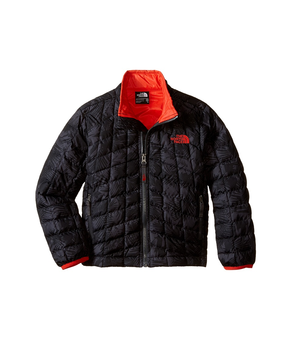 The North Face Kids - Thermoball Full Zip Jacket (Little Kids/Big Kids) (TNF Black Abstract Palm Print) Boy's Coat