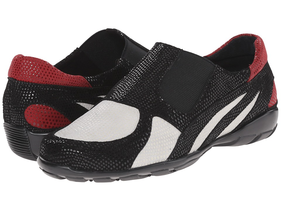 Vaneli - Attie (White E-Print/Black E-Print/Red E-Print) Women's Shoes