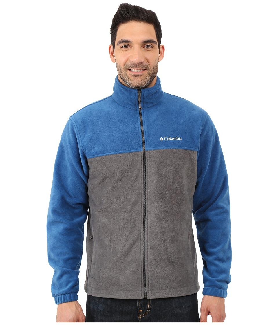 Columbia - Steens Mountain Full Zip 2.0 (Grill/Marine Blue) Men's Coat