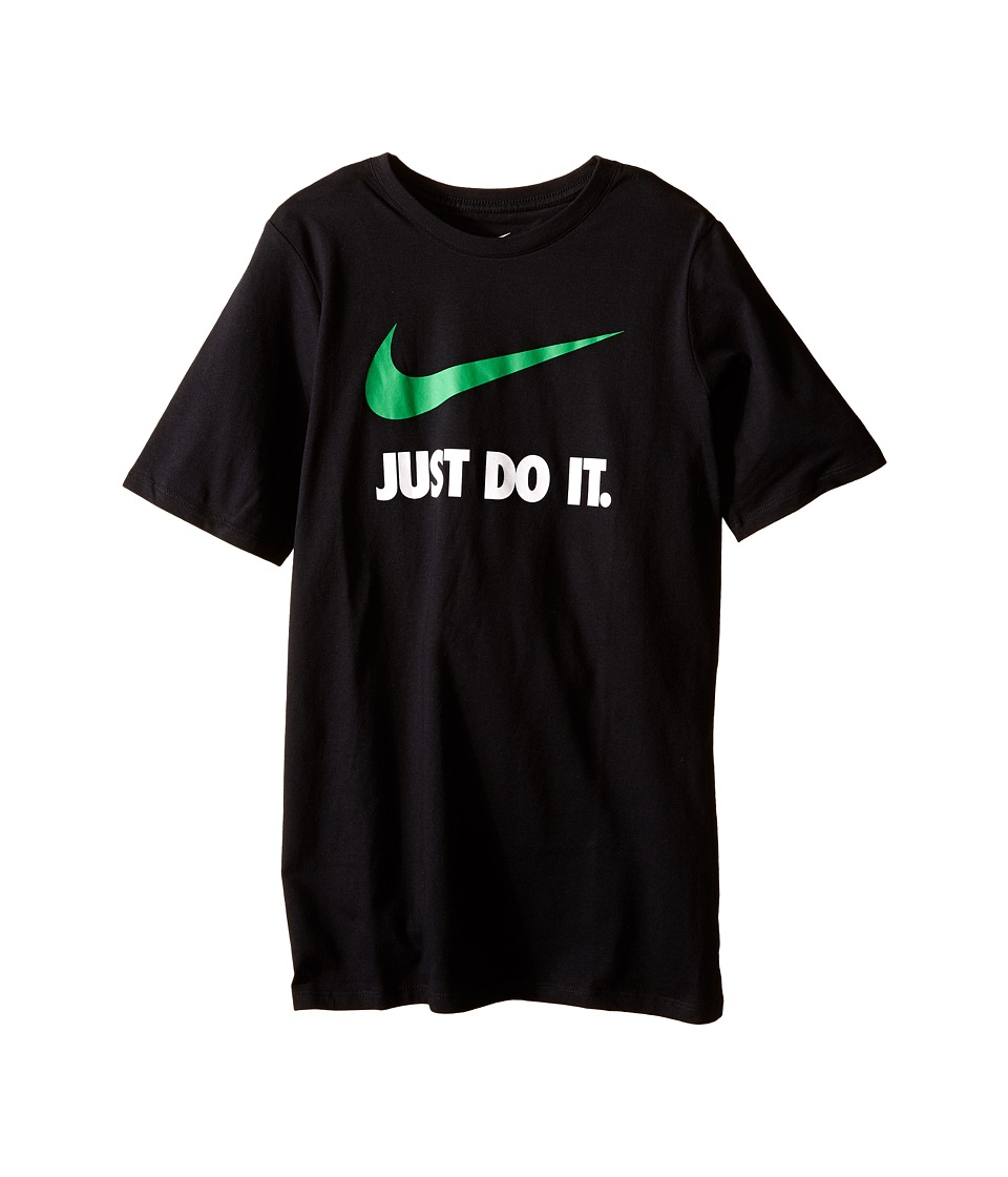 Nike Kids - JDI Swoosh Tee (Little Kids/Big Kids) (Black) Boy's T Shirt