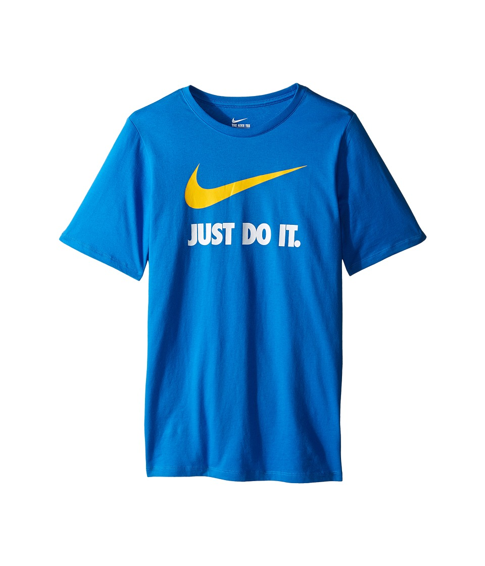 Nike Kids - JDI Swoosh Tee (Little Kids/Big Kids) (Light Photo Blue) Boy's T Shirt