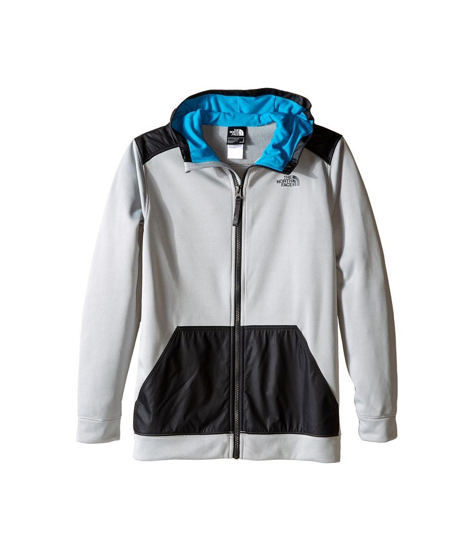 The North Face Kids - Ridge Track Hoodie (Little Kids/Big Kids) (High Rise Grey) Boy's Sweatshirt