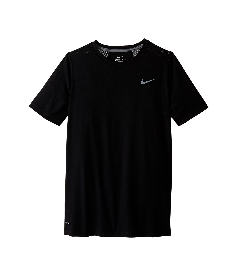 Nike Kids - Legacy Solid Short Sleeve Top (Little Kids/Big Kids) (Black/Cool Grey/Cool Grey/Cool Grey) Boy's Short Sleeve Pullover