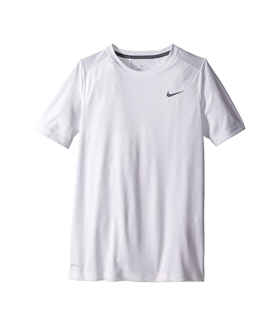 Nike Kids - Legacy Solid Short Sleeve Top (Little Kids/Big Kids) (White/Cool Grey/Cool Grey/Cool Grey) Boy's Short Sleeve Pullover