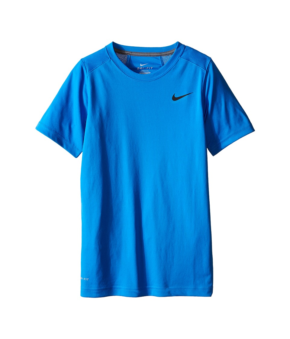 Nike Kids - Legacy Solid Short Sleeve Top (Little Kids/Big Kids) (Light Photo Blue/Black/Cool Grey/Black) Boy's Short Sleeve Pullover