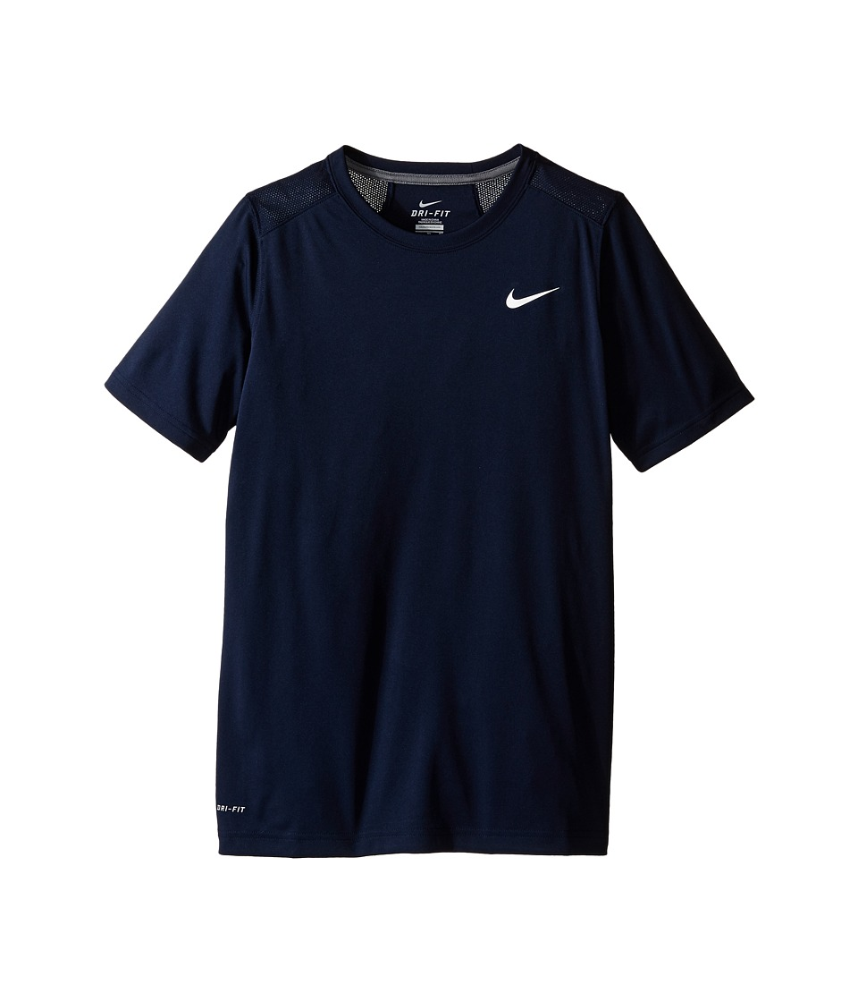 Nike Kids - Legacy Solid Short Sleeve Top (Little Kids/Big Kids) (Obsidian/White/Cool Grey/White) Boy's Short Sleeve Pullover