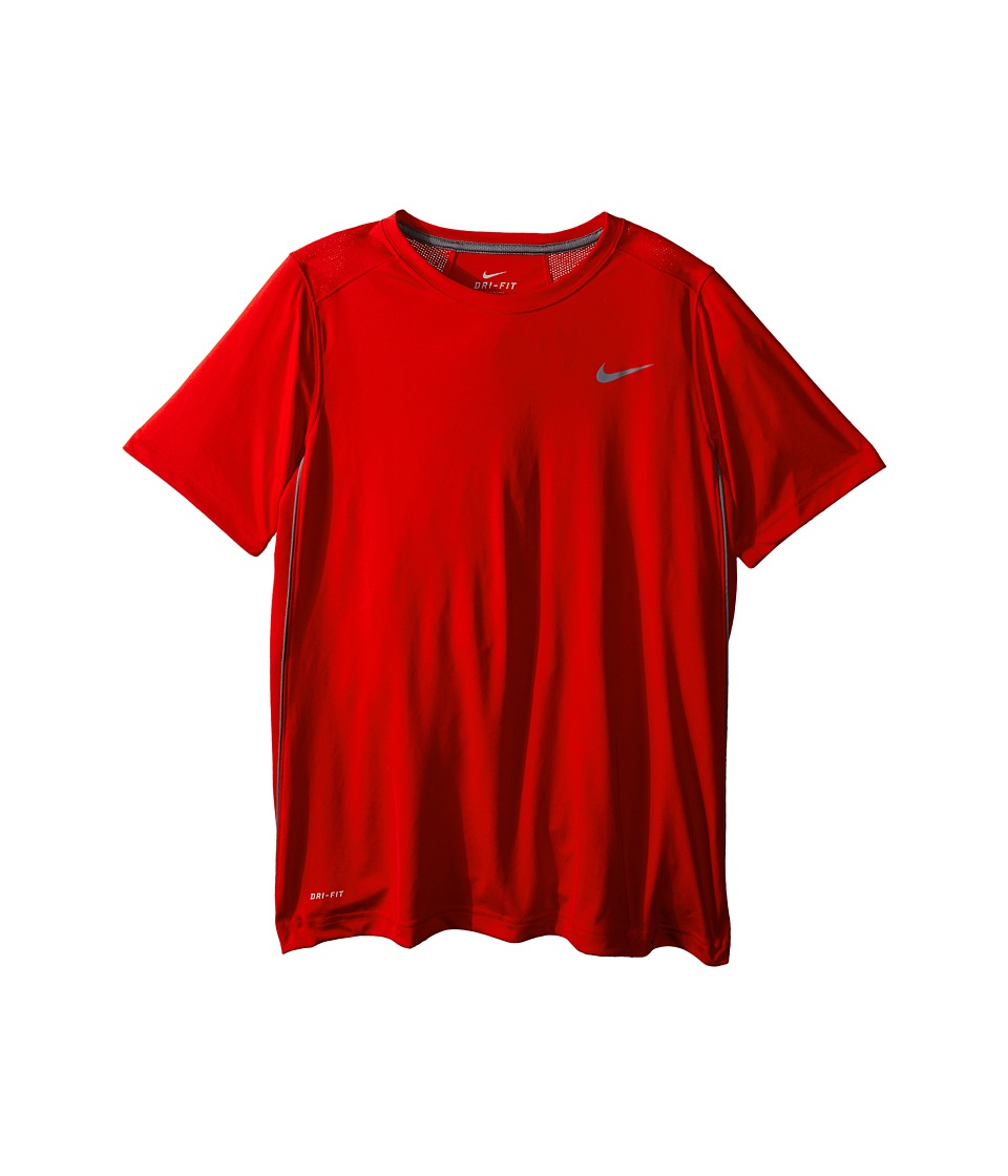 Nike Kids - Legacy Solid Short Sleeve Top (Little Kids/Big Kids) (University Red/Cool Grey/Cool Grey) Boy's Short Sleeve Pullover
