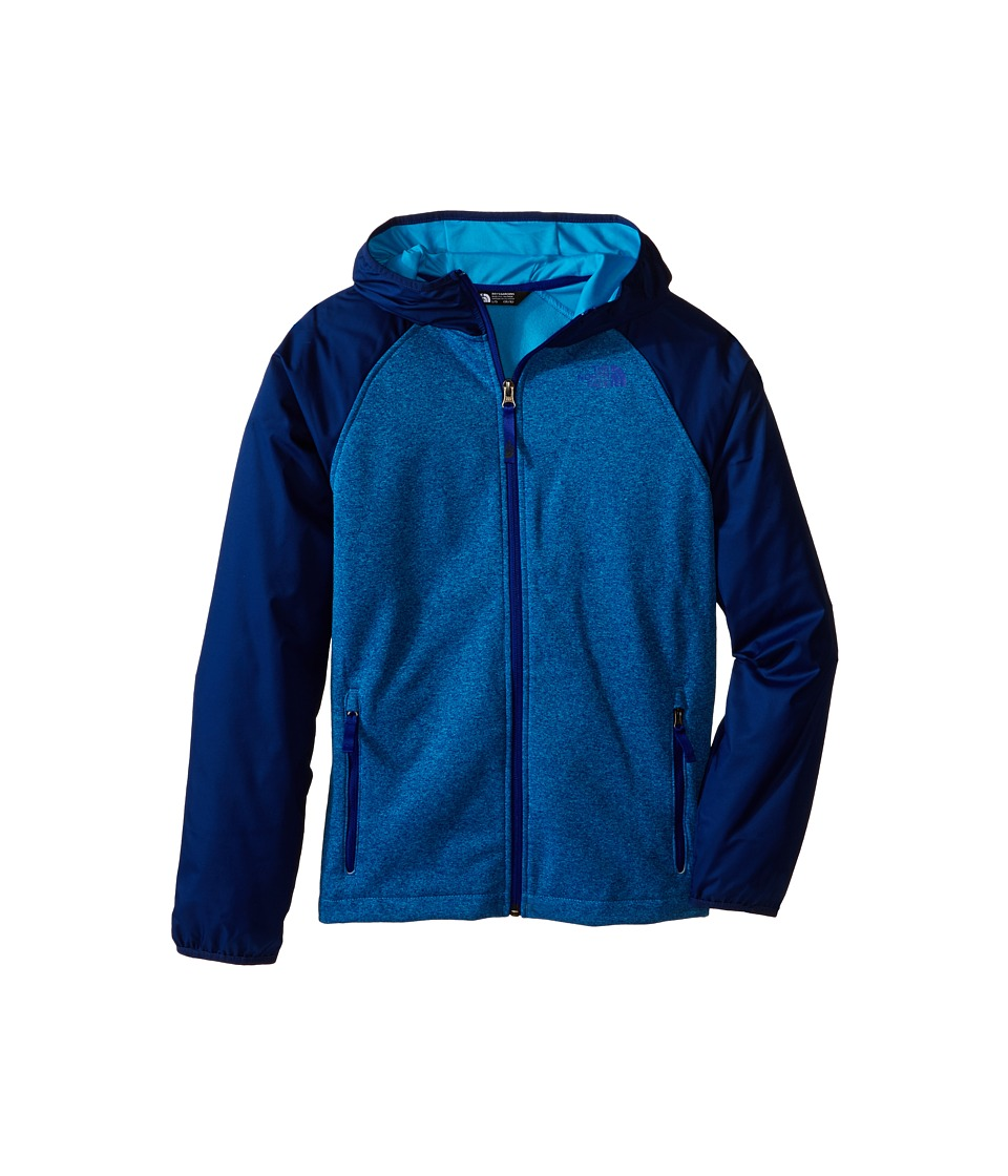 The North Face Kids - Canyonlands Track Hoodie (Little Kids/Big Kids) (Meridian Blue Heather) Boy's Sweatshirt