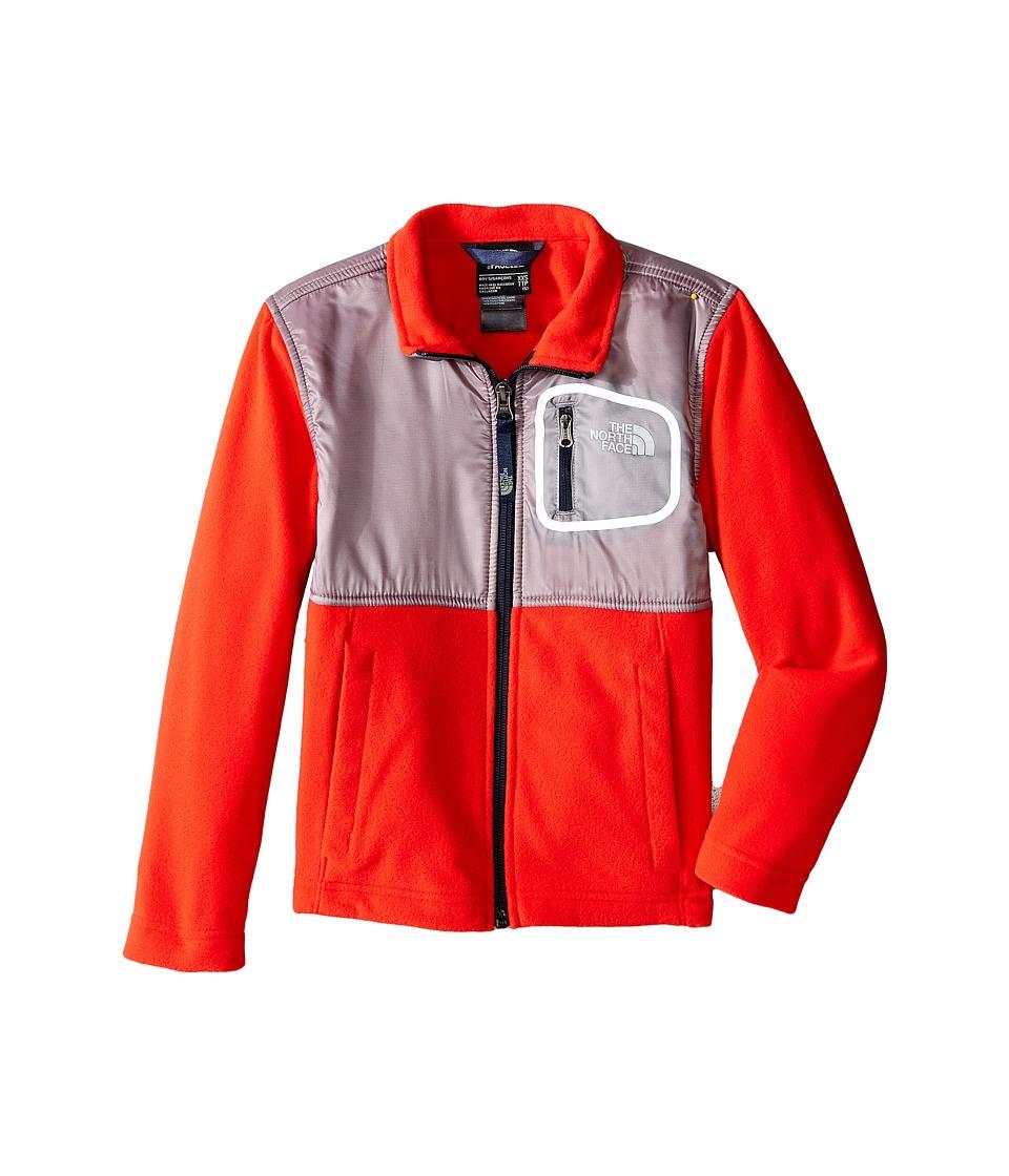 The North Face Kids - Peril Glacier Track Jacket (Little Kids/Big Kids) (Fiery Red/Metallic Silver) Boy's Coat