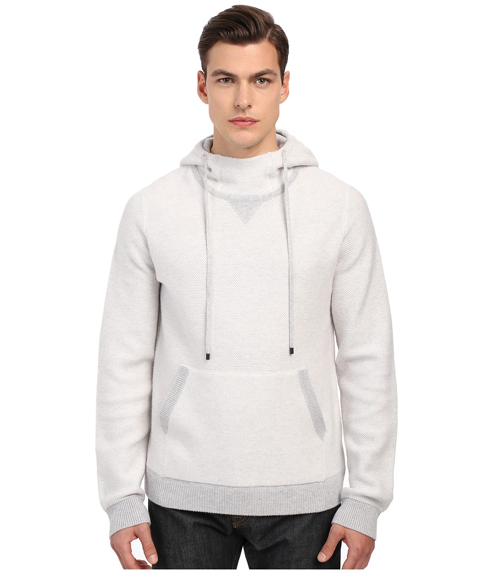 Vince - Lux Lounge Hooded Sweater (Optic White) Men's Sweater