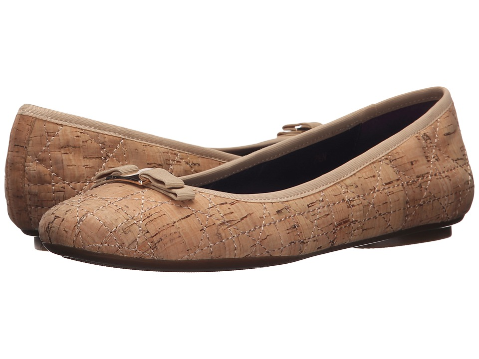 Vaneli - Baffle (Natural Quilted Cork/Match Gross Grain) Women's Slip on Shoes