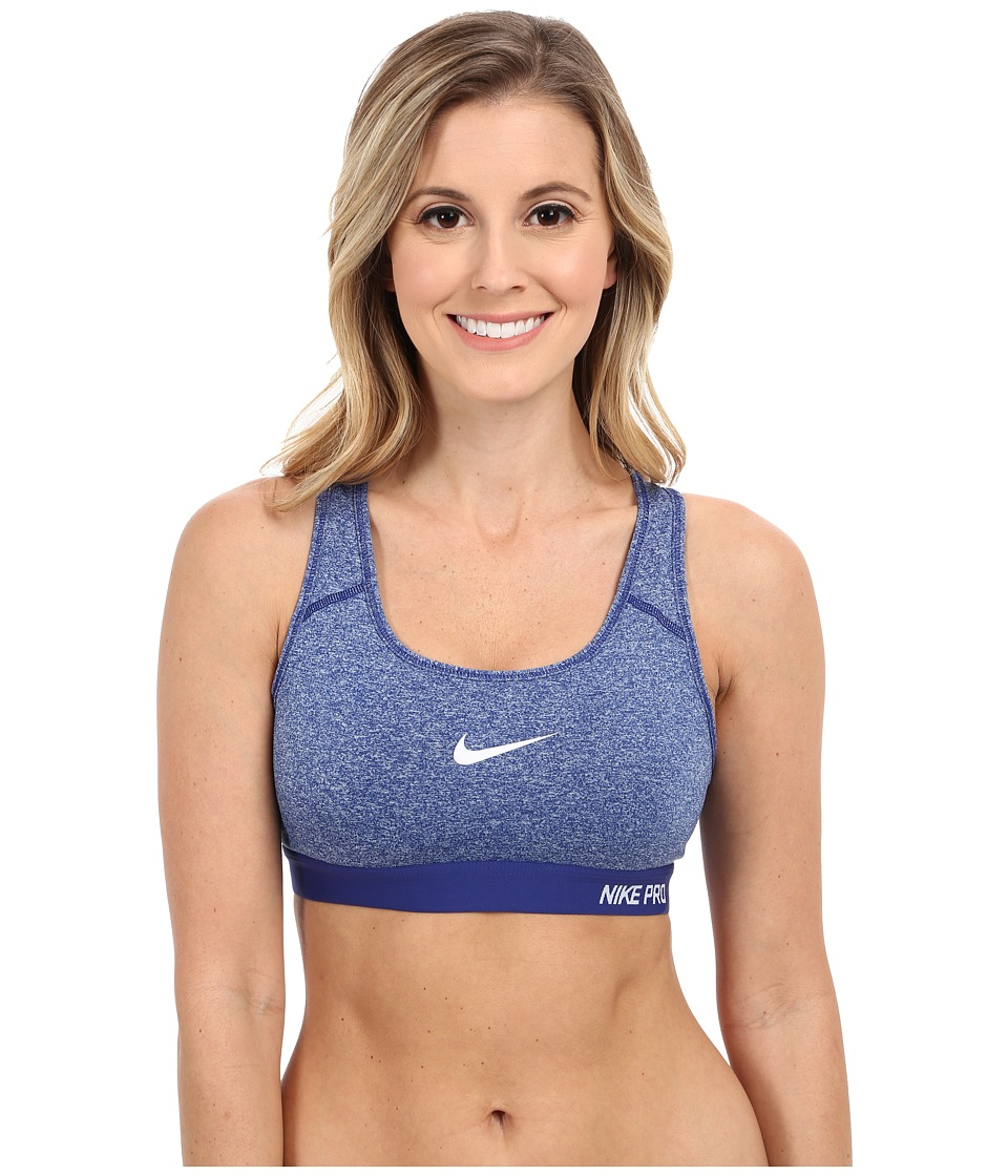 Nike - Pro Classic Padded Bra (Deep Royal Blue/Heather/Deep Royal Blue/White) Women's Bra